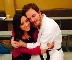 chris pratt, aubrey plaza, and parks and recreation image