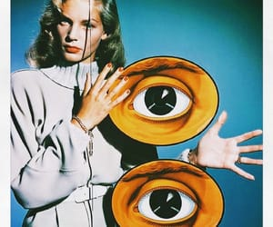 Lauren Bacall, vintage, and eyes image