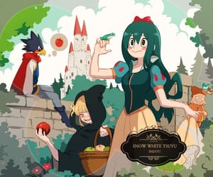 snow white, crossover, and tsuyu asui image
