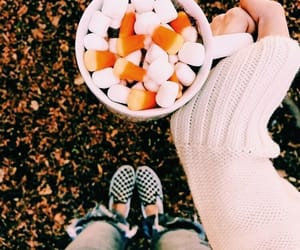 autumn, marshmallow, and candy corn image