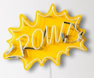 yellow, neon, and pow image