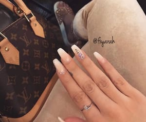 louis vuitton lv, nail nails manicure, and inspi inspiration image