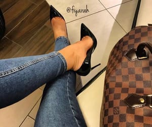fashion style, louis vuitton lv, and high heels heel image