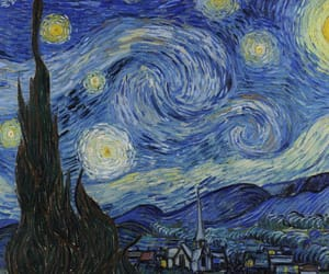 art, van gogh, and starry night image