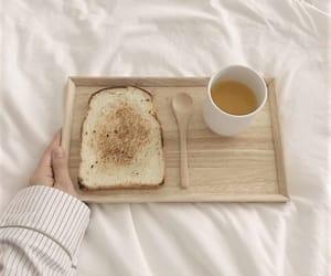 breakfast, bread, and tea image