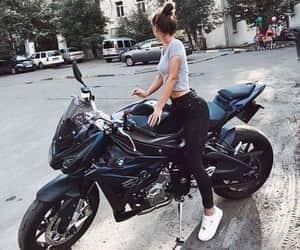 girls, tumblr, and motorbike image