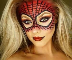 Halloween, customer, and make up image