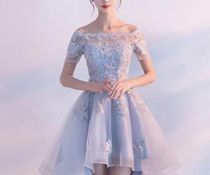 blue prom dress, homecoming dress a-line, and light blue prom dress image
