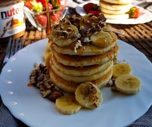 banana, crumpets, and food image