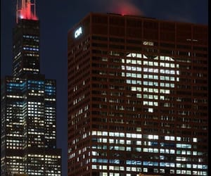 building, cyber, and heart image