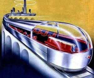 1940s, Retro Futurism, and vintage illustration image