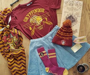 gryffindor, harry potter, and outfit image