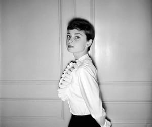 audrey hepburn, black and white, and celebrity image