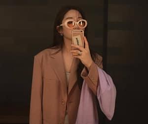 glasses, pink, and ulzzang image