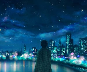 alone, lonely, and night image