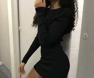 black, curly hair, and girls image