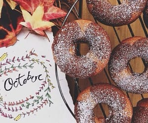 autumn, donuts, and fall image