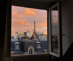 paris, travel, and sunset image
