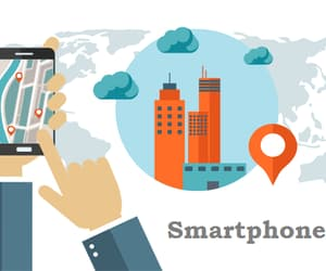 ads in smartphones, geofencing ads, and geo advertising image