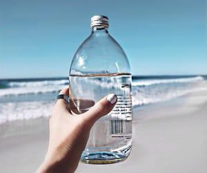 beach, bottle, and paradise image