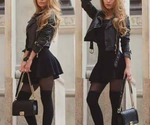black, outfits, and chic image