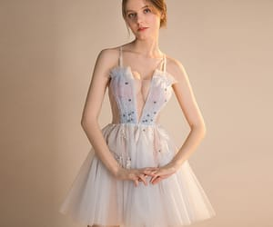 girl, party dress, and see through dress image
