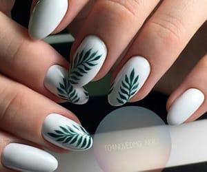 white and nail design image