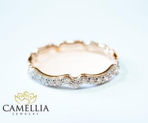 etsy, white gold ring, and diamond wedding ring image
