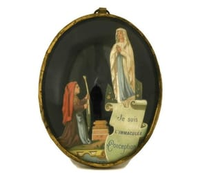 etsy, saint bernadette, and french religious image