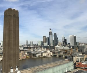 air, london, and skyscrapers image