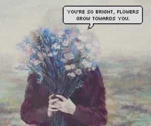 aesthetic, flowers, and grainy image