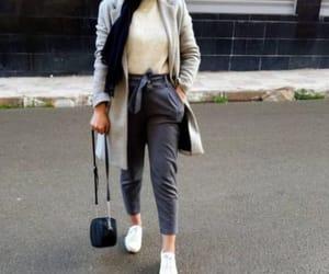 high waist pants, checked pants, and bow pants image