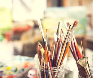 art, Brushes, and paints image