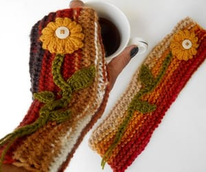 arm warmers, winter gloves, and crochet gloves image