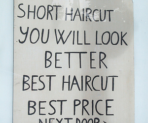 haircut and typography image