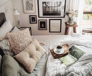 bedroom, design, and frames image