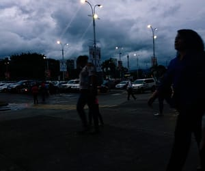 clouds, people, and sunset image