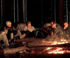 autumn, bonfire, and cozy image
