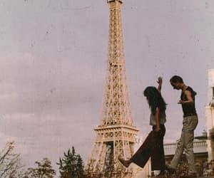 couple, paris, and french image