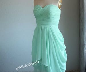 weddings, mint green dress, and wedding party dresses image
