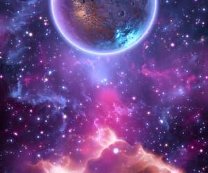 galaxy, glitter, and stars image