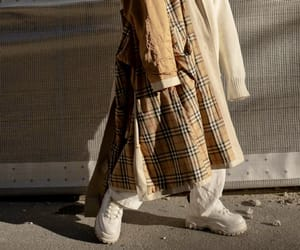 beige, Burberry, and street image