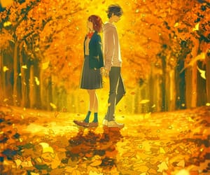 anime, art, and autumn image