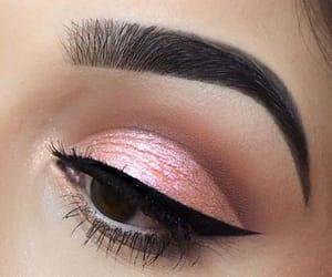 lashes, make up, and black liner image