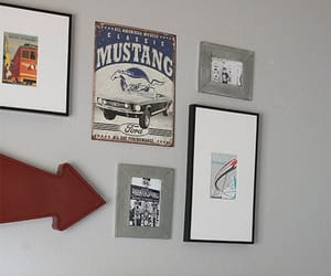 bedroom, picture frames, and decorations image