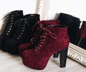 black, red, and bota image