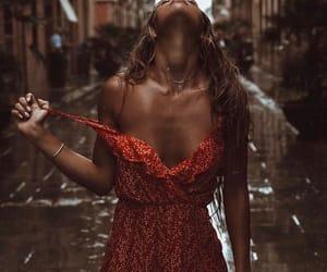 girl, rain, and model image