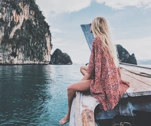 boat, ocean, and travel image