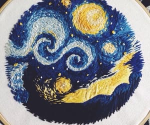 van gogh and embroidery image