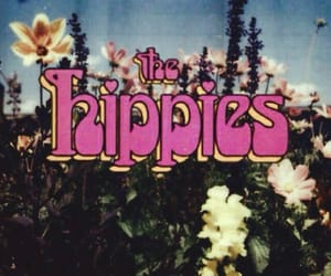 flowers, hippies, and vintage image
